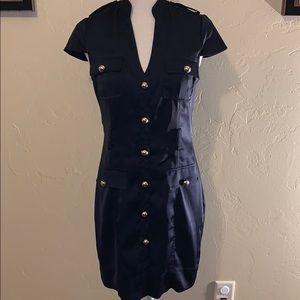 🔥beautiful navy silk 👗 dress from express 🔥